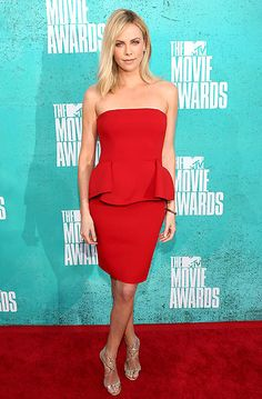 Charlize Theron, MTV Movie Awards 2012. Lanvin dress and Jimmy Choo sandals