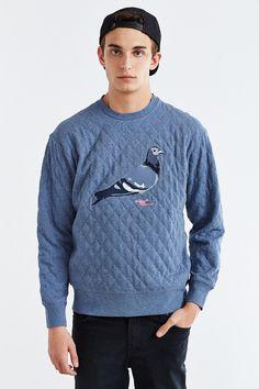 4f6aaec0ffe Staple Quilted Pigeon Crew Neck Sweatshirt