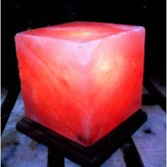 Black Tai Cube Salt Lamp with Cord Himalayan Salt Crystals, Himalayan Salt Lamp, Stone Columns, My Room, Cool Gifts, Bath And Body, Cube, Candle Holders, Table Lamp