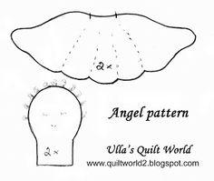 Ulla's Quilt World: Angel scent pouches + pattern, quilt