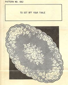 This Pin was discovered by Bah Filet Crochet Charts, Crochet Doily Patterns, Crochet Doilies, Crochet Lace, Crochet Stitches, Lace Stencil, Crochet Decoration, Cross Stitch Rose, Crochet Tablecloth