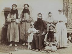 A Family of Dervishes. Possibly Antoin Sevruguin (Armenian-Georgian, 1830s–1933). Iran, late 19th–early 20th century. Silver albumen photograph