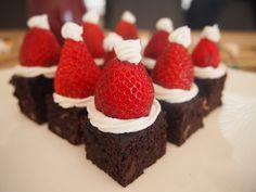 Santa Hat Brownies (Gluten, Dairy, & Refined Sugar Free)