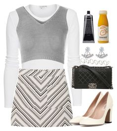 """""""A little Clueless"""" by sammiy-1 ❤ liked on Polyvore featuring James Perse, Glamorous, MANGO, Valentino, Chanel, Astrid & Miyu and H&M"""