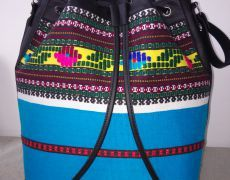 Geanta handmade din piele naturala si material traditional Backpacks, Handmade, Bags, Fashion, Handbags, Moda, Hand Made, La Mode, Women's Backpack