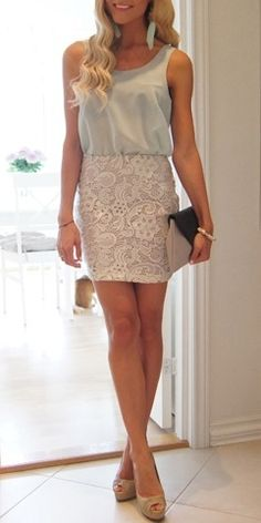 Lace & Light Mint Green and nude heels