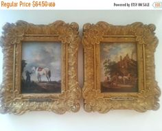 Christmas In July Sale Vintage Holland Framed by MartiniMermaid