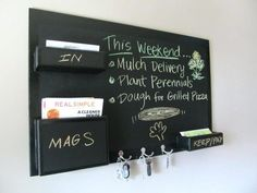 Decorative chalkboards for home interior captivating chalkboard key holder designed in unique and unusual without big frame that placed chalkboard wall hanging.  Get Now on SALE a 10 color Chalk Markers set including 2 whites + a GIFT of 32 Label Stickers.  http://www.amazon.com/dp/B0187DKT6Q   For additional 10% discount coupon e-mail us: dosensepro@gmail.com