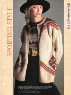 Knitting pattern  Woman's Sporting Style by MyPatternsCollection