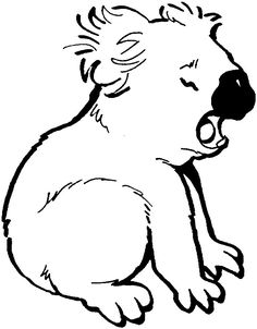 K Is For Koala Coloring Page ... on Pinterest | Australian animals, Kangaroos and Coloring pages