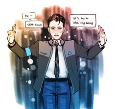 Detroit Become Human Connor, Becoming Human, Human Art, Luther, Fandoms, Dbt, Android, Fanart, Gaming