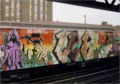 In the 1970s, subway trains were common targets of graffiti painters, despite -- or perhaps because of -- laws against the practice and widespread public disapproval. LEE Quinones was an ambitious practitioner, choosing a Lexington Avenue express train for a mural in 1979.
