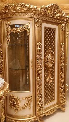 Royal Furniture, Victorian Furniture, Home Decor Furniture, Luxury Furniture, Mansion Interior, Luxury Homes Interior, Home Interior Design, Carved Wood Wall Art, Home Theater Decor