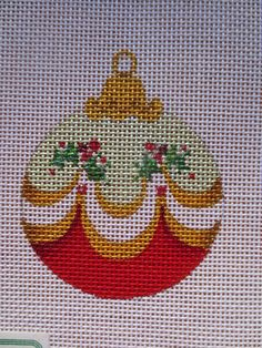 Christmas Ornament - Strictly Christmas Needlepoint Canvas #StrictlyChristmas