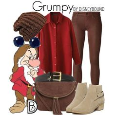 Grumpy by leslieakay on Polyvore featuring Koral, Warehouse, Kate Spade, Lauren Ralph Lauren, 7 For All Mankind, disney, disneybound and disneycharacter