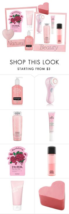 """""""natural beauty"""" by guccibunny ❤ liked on Polyvore featuring beauty, Clarisonic, Lancôme, Boscia, TONYMOLY, MAC Cosmetics and Saturday Skin"""