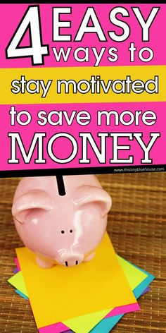 Here are 4 painless tips and hacks to help boost your motivation and help you stay consistent at saving more money this year. College Loans, Student Loans, Debt Repayment, Managing Your Money, Budgeting Tips, How To Stay Motivated, Frugal Living, Money Saving Tips, Extra Money