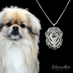 SiberianArt - Art work by Amit Eshel. www.siberianartjewelry.etsy.com Tibetan Spaniel