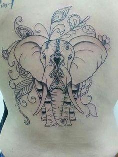Resultado de imagem para tattoo feminina elefante indiano