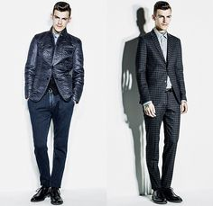 Sisley Italy 2014-2015 Fall Autumn Winter Mens Lookbook Collection - Denim Jeans Peacoat Outerwear Coat Tweed Turtleneck Boots Plaid Overcoat Topcoat Vest Waistcoat Motorcycle Moto Biker Rider Leather Blazer Necktie Knit Sweater Jumper Chunky Knit Parka Down Jacket Puffer Quilted Check