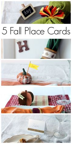 5 Unique Place Card Ideas for Fall