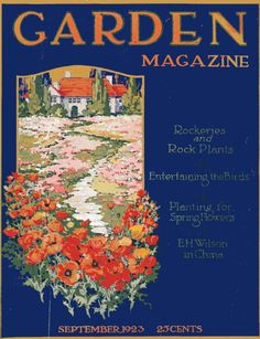 Sept 1923 Garden Magazine cover - a great example of a bungalow garden!