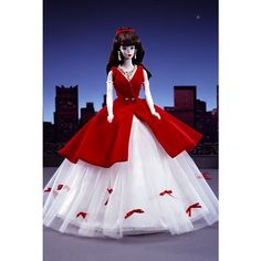 Looking for Collectible Porcelain Barbie Dolls? Immerse yourself in Barbie history by visiting the Barbie Signature Gallery at the official Barbie website! 1980s Barbie, Vintage Barbie, Barbie Dolls, Miss Universe Costumes, Barbie Website, Dream Doll, Barbie Collector, Ribbon Bows, Barbie Clothes
