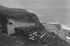 1942 Japanese Fishing shack off Palos Verdes Cliffs.