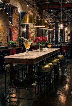 Bars always need a luxurious furniture. Discover more luxurious interior design details at luxxu.net #VintageIndustrial #restaurantdesign