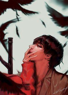 Name of artist in fanart Fanart Bts, Taehyung Fanart, Bts Taehyung, Fan Art, V Bts Wallpaper, Paris Wallpaper, Bts Drawings, Fanarts Anime, Bts Chibi