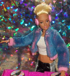 DJ Barbie tearing it up at the club! // OOAK style by Aneka