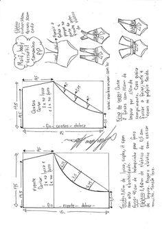 Maiô body that se transforma em vários modelos - DIY - molde, corte y costura - Marlene Mukai Sewing Dress, Diy Dress, Sewing Clothes, Diy Clothes, Underwear Pattern, Lingerie Patterns, Sewing Lingerie, Sewing Patterns For Kids, Dress Sewing Patterns