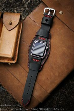 Change any watch strap you like to fit your new Apple Watch with our Full Set ( Custom Made Vintage Strap + Already Installed Adapter with Leather Cuffs, Leather Men, Leather Wallet, Leather Bracelets, Custom Leather, Leather Bags, Leather Jewelry, Metal Jewelry, Mode Steampunk
