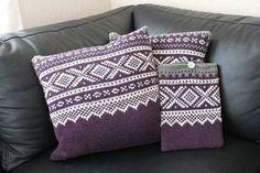 Ravelry: Marius-pute pattern by Sandnes Design Ravelry, Marius, Norwegian Knitting, Crochet Pillow, Knitting Accessories, Cross Stitch, Cushions, Colours, Throw Pillows