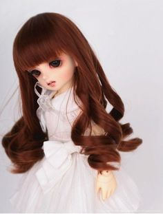 New 1/6 BJD/SD Doll Wig High Temperature Silk Hair Dollfie Curly Hair FC26 in Dolls & Bears, Dolls, By Brand, Company, Character | eBay