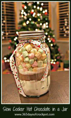 Christmas (slow cooker) Hot Chocolate Gift Jars