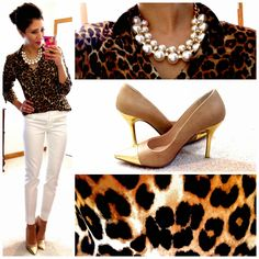 Work wear via Hello, Gorgeous! Just swap out the skinnies for white trousers or relaxed leg pants