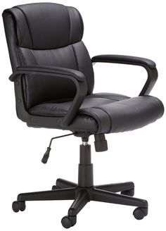 Executive Swivel Chair Adjustable Modern Home Office Furniture Leather Desk Cool Office Desk, Cheap Office Chairs, Black Office Chair, Best Office Chair, Executive Office Chairs, Swivel Office Chair, Best Desk, Home Office Chairs, Home Office Furniture