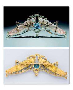 René Lalique - AN AQUAMARINE, ENAMEL, PASTED GLASS AND GOLD GRASSHOPPER BROOCH.
