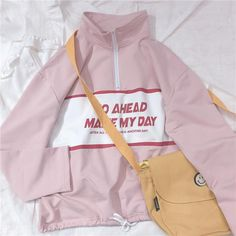 Kawaii Fashion, Cute Fashion, Girl Fashion, Teen Fashion Outfits, Casual Outfits, Fasion, Hooded Bomber Jacket, Kawaii Clothes, Custom Clothes