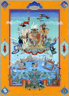 Singh Twins The, Liverpool 800 The Changing Face of Liverpool, 2007 Liverpool Home, Coat Of Arms, The Guardian, Kitsch, Contemporary Art, Wall Art, History, Drawings, Artwork