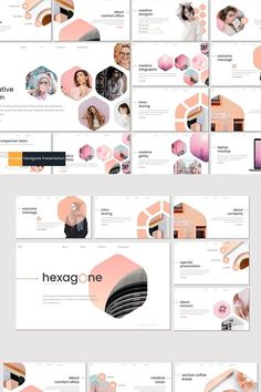 **Hexagone - Presentation Template**is a Minimalist, Creative, Unique presentation template for commercial enterprise or personal use, creative industry, Best Presentation Templates, Presentation Design Template, Presentation Layout, Portfolio Presentation, Booklet Design, App Design, Slide Design, Layout Design, Powerpoint Design Templates