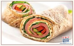 Rolled Ham And Cucumber Sandwiches Easy Delicious Recipes, Easy Dinner Recipes, Easy Meals, Healthy Recipes, Healthy Foods, Yummy Wraps, Ham Wraps, Good Food, Yummy Food