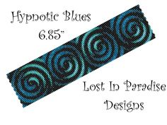 Hypnotic Blues Peyote Bracelet Pattern 6.85 inch (Buy any 2 of my patterns and get a 3rd one Free). $6.50, via Etsy.