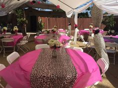 Pink and Leopard Print Baby Shower...by Mikeu0027s Party Decorations & Brown u0026 Pink Cheetah Print Birthday Party Ideas | Pinterest ...