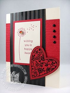 red and black valentine card