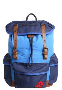 "Pepe Jeans. ALBERT - Rucksack - blue. Pattern:Print. Compartments:spacious inner compartment,laptop compartment. length:11.5 "" (Size One Size). width:7.0 "" (Size One Size). Lining:Polyester. carrying handle:4.0 "" (Size One Size). Outer..."