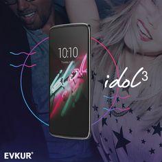Alcatel One Touch Idol3 Evkur'da  http://www.evkur.com.tr/cep-telefonlari-kategorisindeki-urunler.html #evkur #telefon #taksit #alcatel #onetouch #selfie