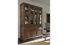 Rustic Brown Strumfeld Buffet and China View 1