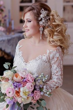 Long wedding hairstyles and wedding updos from Websalon Weddings / http://www.deerpearlflowers.com/websalon-weddings-wedding-hairstyles-and-updos/4/